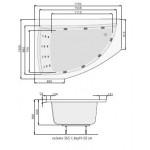 Панел за вана Aquamarina, ляв, бял